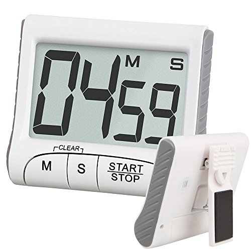 EEEKit Digital Kitchen Clock Timer & Stopwatch, Large LCD Display Digits, Loud Alarm, Magnetic Stand