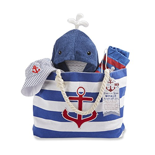 Baby Aspen Fun in The Sun 4 Piece Nautical Gift Set with Canvas Tote for (Gift Tote Gift Set)