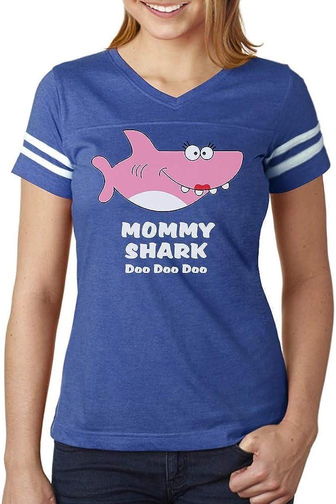 Mommy Shark Doo doo doo Gift for Mom Women Football Jersey T-Shirt