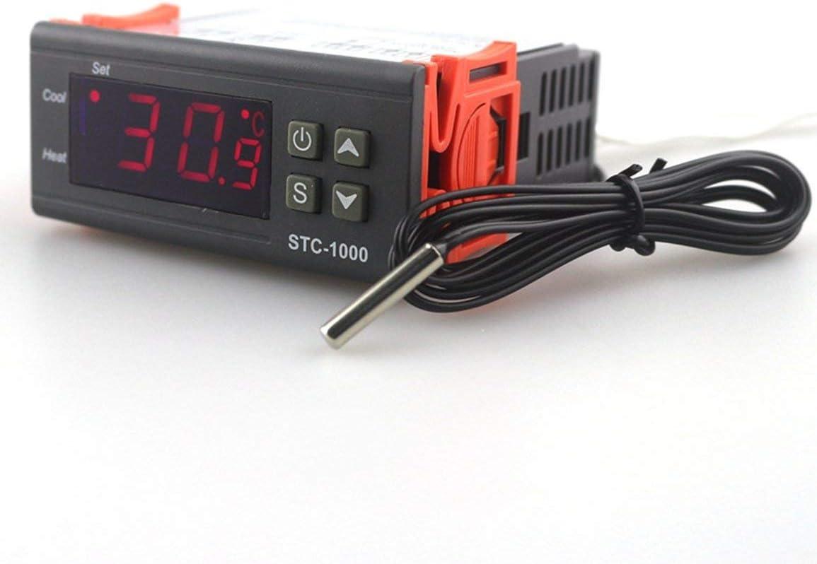 STC-1000 Termostato digital Incubadora Controlador de temperatura Salida de relé LED 110V 220V 12V 24V 10A Frío calor JBP-X