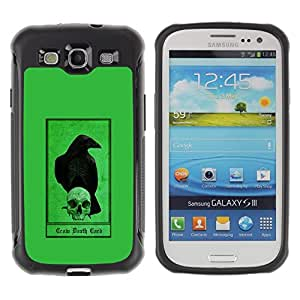 Suave TPU GEL Carcasa Funda Silicona Blando Estuche Caso de protección (para) Samsung Galaxy S3 III I9300 / CECELL Phone case / / Crow Raven Green Skull Bird Dark /