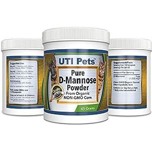 UTI Pets Pure D-Mannose Non GMO Organic Source Powder 65gram jar