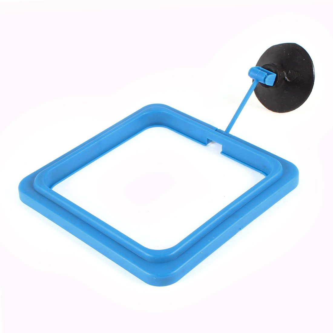 Aquarium Fish Food Feeder Feeding Ring Black Blue w Suction Cup Sourcingmap a14030700ux0777