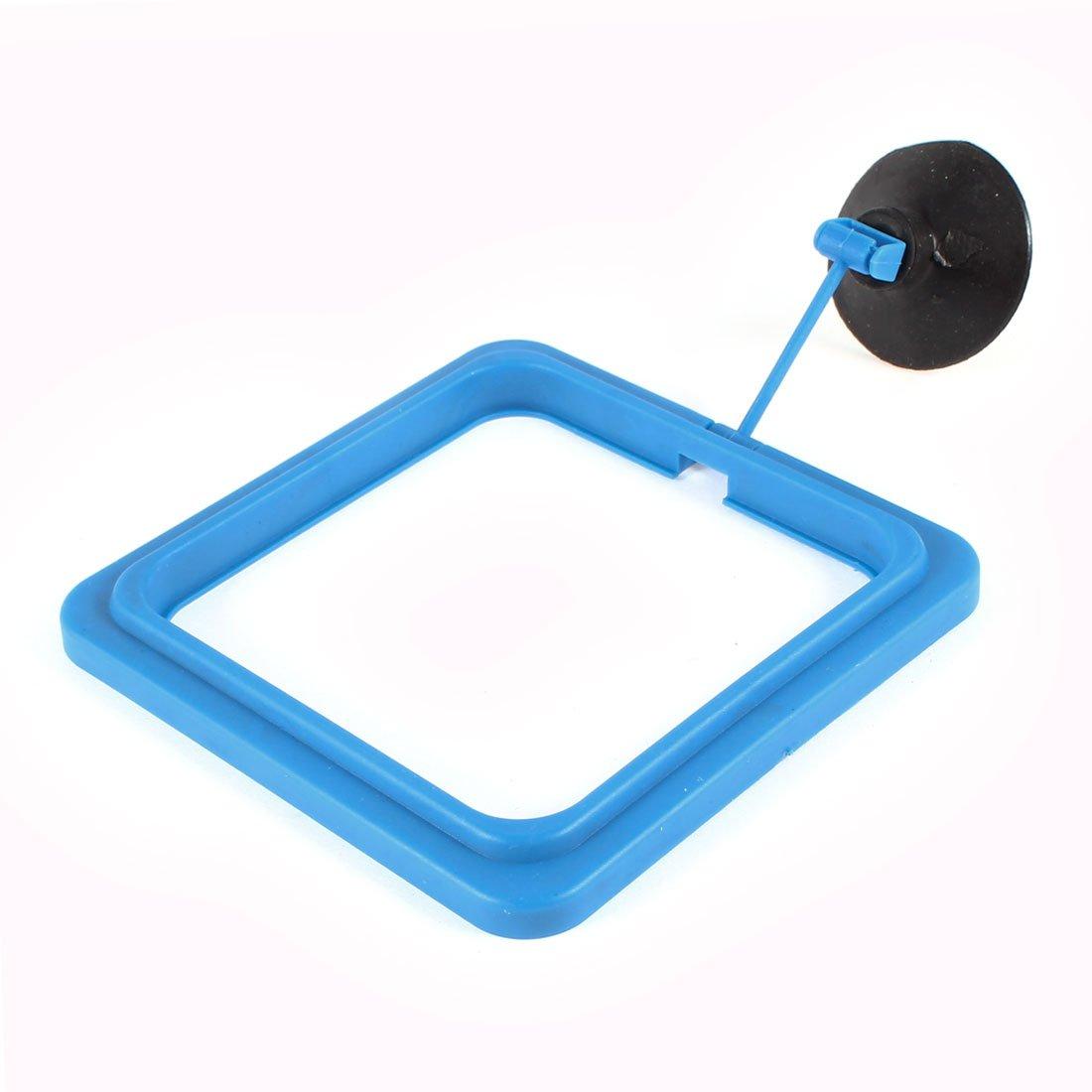 Aquarium Fish Food Feeder Feeding Ring Black Blue w Suction Cup Sourcingmap a14030700ux0777