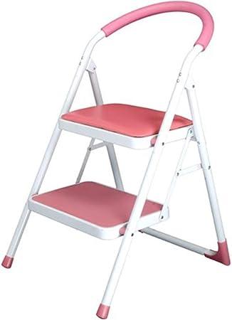 OhLt-j Taburete con escalones, Escalera de taburetes Escalera de dos niveles Escalera de dos escaleras Escalera móvil Escalera de espiga Escalera de escalada Escalera multifunción (Color: Blanco, Tama: Amazon.es: Hogar