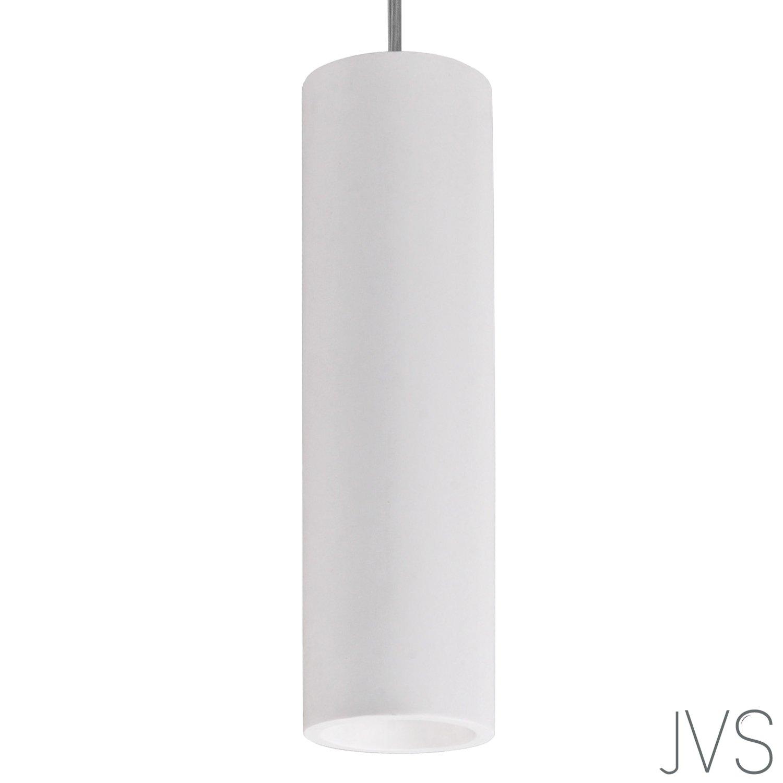 Pendel-Leuchte Deckenleuchte aus Gips Gips Gips LUNA (Weiss) Rund Inkl. 3 X 230V IP20 Gipslampe überstreichbar, Kronleuchter weiss, Modern Hängeleuchte für Wohnzimmer Esszimmer   Büro - ohne Leuchtmittel d0790e