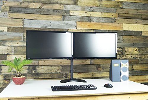 Vivo Dual Lcd Monitor Free Standing Desk Mount Stand