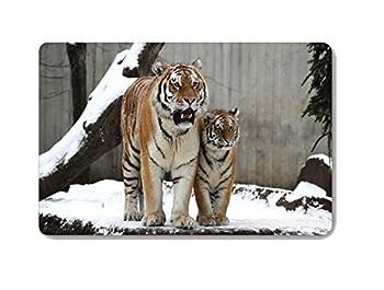 """CHARMHOME Animal Tiger Doormat Entrance Mat Floor Mat Rug Indoor Outdoor Front Door Bathroom Mats Rubber Non Slip (23.6""""x15.7"""",L x W)"""