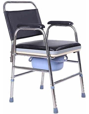 Silla WC YHz@ Viejo Sentado Mujeres Embarazadas luz Plegable Silla de baño/discapacitados Silla