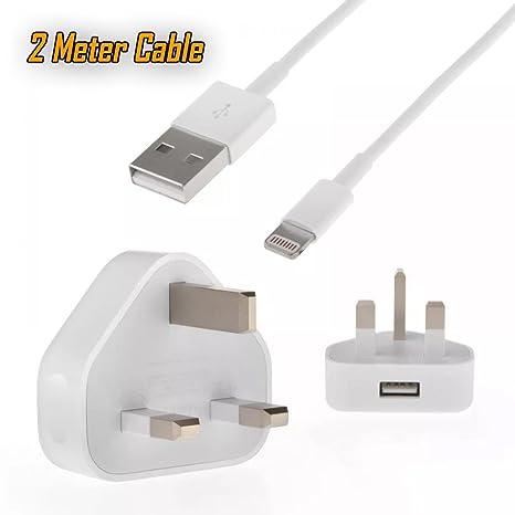 UrbanX - Cargador de Pared y Cable de Carga USB de 2 Metros ...