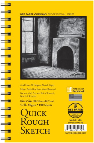 Price comparison product image Bee Paper Quick Rough Sketch Pad,  5-Inch by 8-Inch