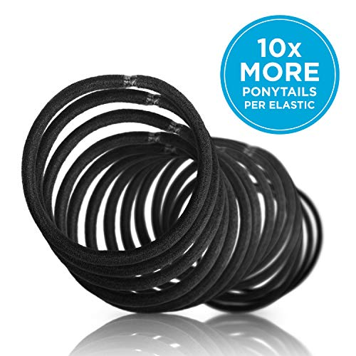 Goody Ouchless Womens Elastic Thick Hair Tie – 27 Count, Black – 4MM for Medium Hair to Thick Hair – Hair Accessories…