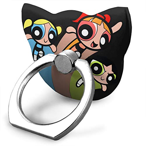 EdithL The Powerpuff Girls Season Cellstand Cell Phone Finger Ring Stand, Car Mount 360 Degree Rotation Universal Phone Ring Holder Kickstand for iPhone/iPad/Samsung