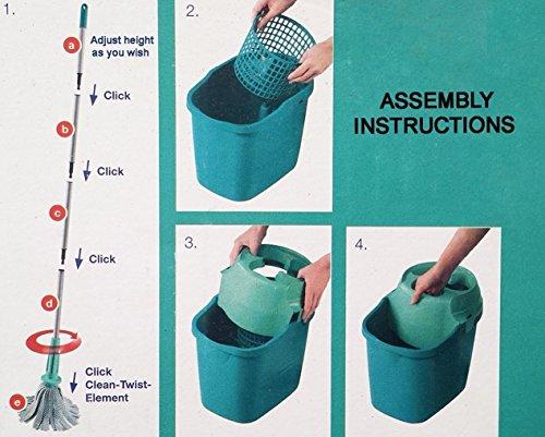 Leifheit Twister Spin Wet Mop Set Easy Wring (Bucket + Mop) (Bulk Package)