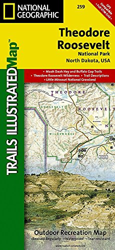 Theodore Roosevelt National Park (National Geographic Trails Illustrated - Theodore Map Roosevelt National Park