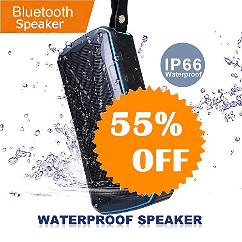 Xsound Go Portable Bluetooth Speaker, 2 x 8W Wireless Speaker with Rich Bass, 12Hours Playtime, Charging iPhone iPad, IPX6 Waterproof, Wirecutter's Choice, Louder Volume for Boating Sailing Party