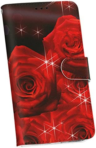 igcase Galaxy A20 SC-02M SCV46 専用 ケース カバー 手帳 AU DOCOMO UQ スマコレ 手帳型 レザー 手帳タイプ 革 sc02m スマホケース スマホカバー 005581 フラワー 花 フラワー 赤