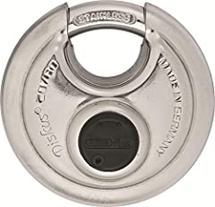 The disc lock is a special form of padlock with some distinct advantages. The disc shape effectively combats the most common ways of forcing it open. The design with only a small opening in the shackle makes it very difficult to tamper with. ...