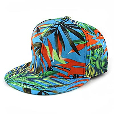 ZLYC Women Fashion Floral Print Adjustable Casual Snapback Baseball Cap Hat