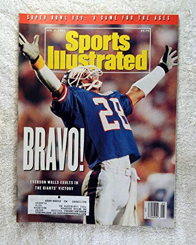 Everson Walls - New York Giants - Super Bowl XXV Champions! - Sports Illustrated - February 4, 1991 - Buffalo Bills - - Everson Walls