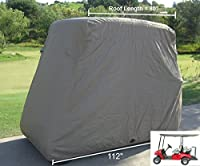 "Deluxe 4 Passenger Golf Cart Cover roof 80""L (Grey, Taupe, or Green), Fits E Z GO, Club Car and Yamaha G model - Fits GEM e2"