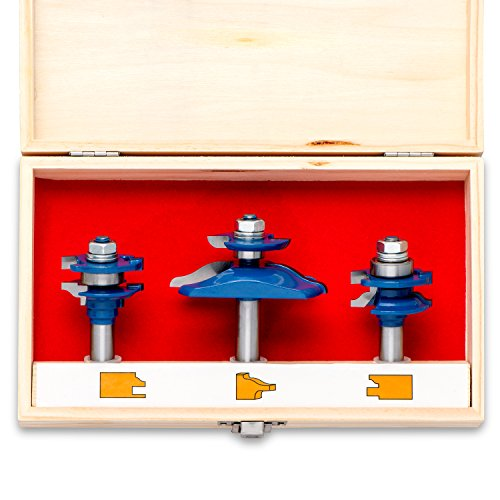 (Neiko 10111A Ogee Cutter Router Bit Set, 3 Piece | 1/2