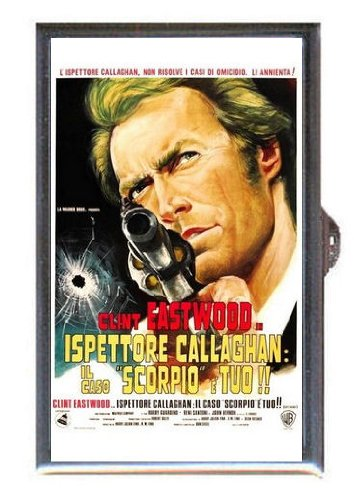 Clint Eastwood Dirty Harry 1971 Movie Poster, Guitar Pick or Pill Box USA Made