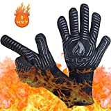 Anglink BBQ Grill Gloves, 1472°F Extreme Heat Resistant Grilling Gloves for Cooking, Baking