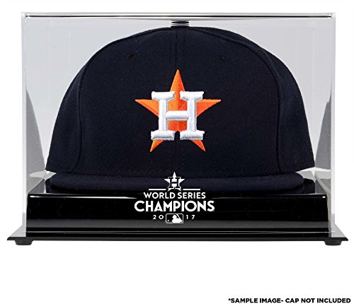 Sports Memorabilia Houston Astros 2017 MLB World Series Champions Acrylic Logo Cap Display Case - Baseball Hat Logo Display Cases - Mlb Baseball Cap Display Case