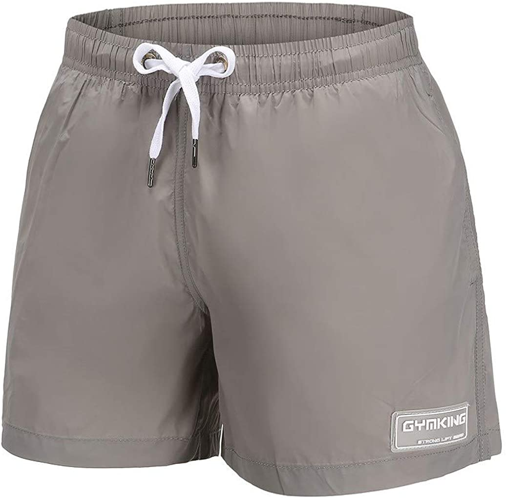 Mens Cool Cow Causal Beach Shorts with Elastic Waist Drawstring Lightweight Slim Fit Summer Short Pants with Pockets
