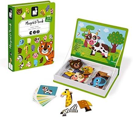 Janod MagnetiBook Animales, Multicolor, única (Juratoys J02723): Amazon.es: Bebé