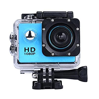 DanCoTech Action Camera with Waterproof casing 1080P FHD Sports DV Recording (Blue)