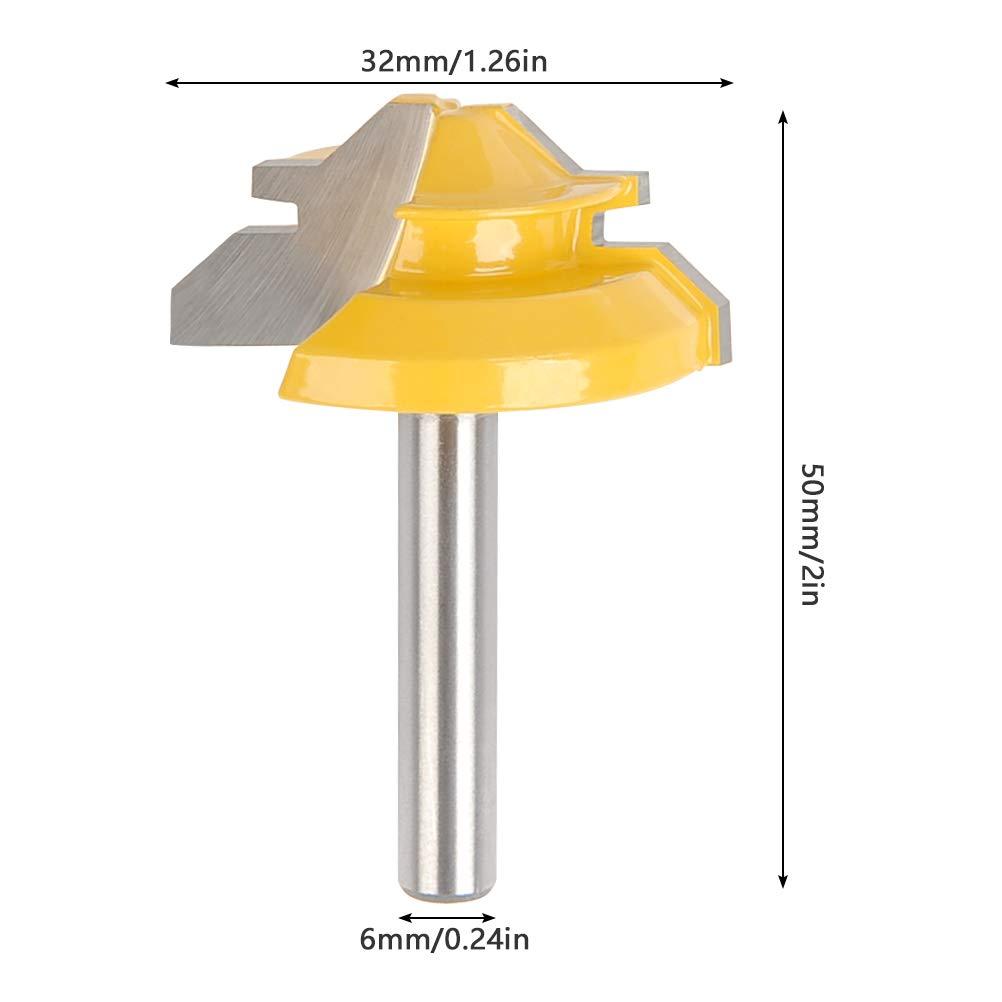 Qlouni 45 Degree Lock Miter Bit 1 4 Shank Router 1 3 8 Diameter