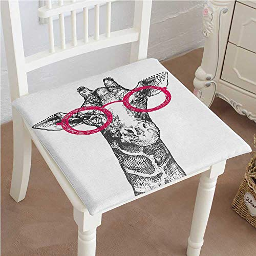 (Chair Pads Classic Design Cute Hipster Animal Retro Fashion Round Glasses Summer Time Love Hand Drawn Style Cotton Canvas Futon 14