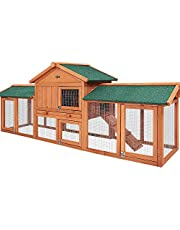 Rabbit Hutch Large Metal Run Wooden Cage Chicken Coop Guinea Pig i.Pet