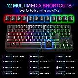 NPET G20 Compact Gaming Keyboard, 87 Keys Backlit