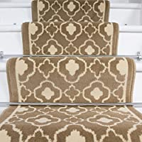 Lima Natural Trellis Geometric Design Stair Carpet in 2 - 3 Widths and 1 - 64 Lengths