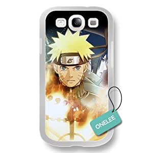 Onelee(TM) Japanese Anime Naruto Soft Rubber () Samsung Galaxy S3 Case Cover - White Rubber