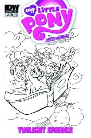 Micro Sparkle - My Little Pony Micro-Series #1 Twilight Sparkle Variant Thom Zahler Subscription Cover