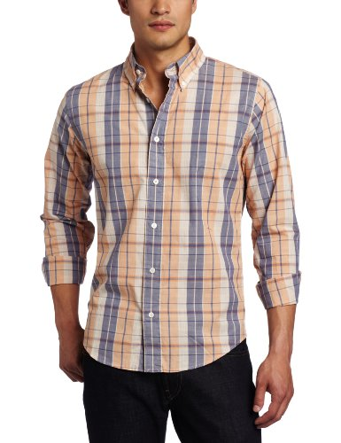 Jack Spade Men's Wagner Check Shirt, Peach Check, Small
