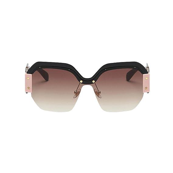 Logobeing Gafas de Sol Mujer Gafas de Sol Rapero Oval Shades ...