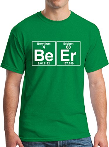 The Element of Beer College Science Periodic Table Funny Drinking T-Shirt white - Beer Of Periodic Table
