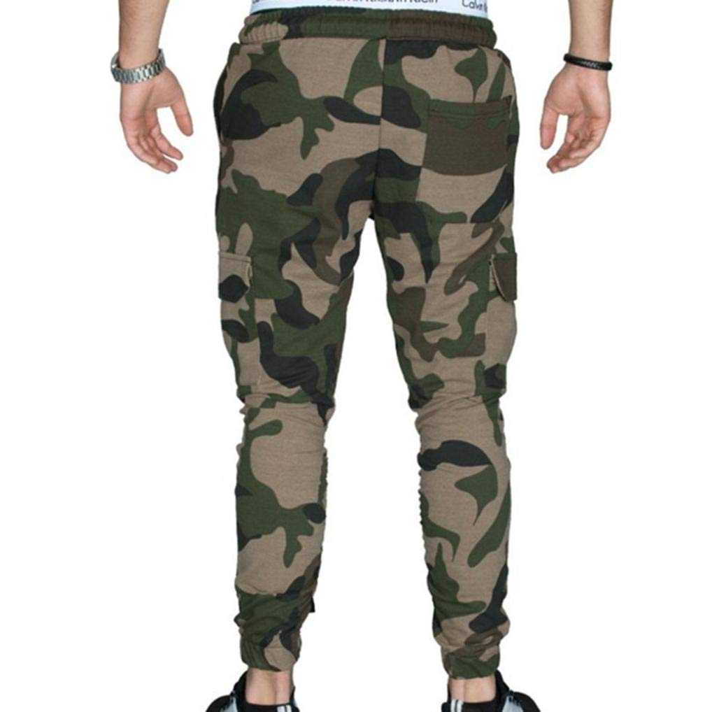 Realdo Hot!Clearance Sale Fashion Men Tight Beam Foot Drawstring Sports Slacks Casual Elastic Pockets Trousers(XXX-Large,Army Green) by Realdo (Image #3)
