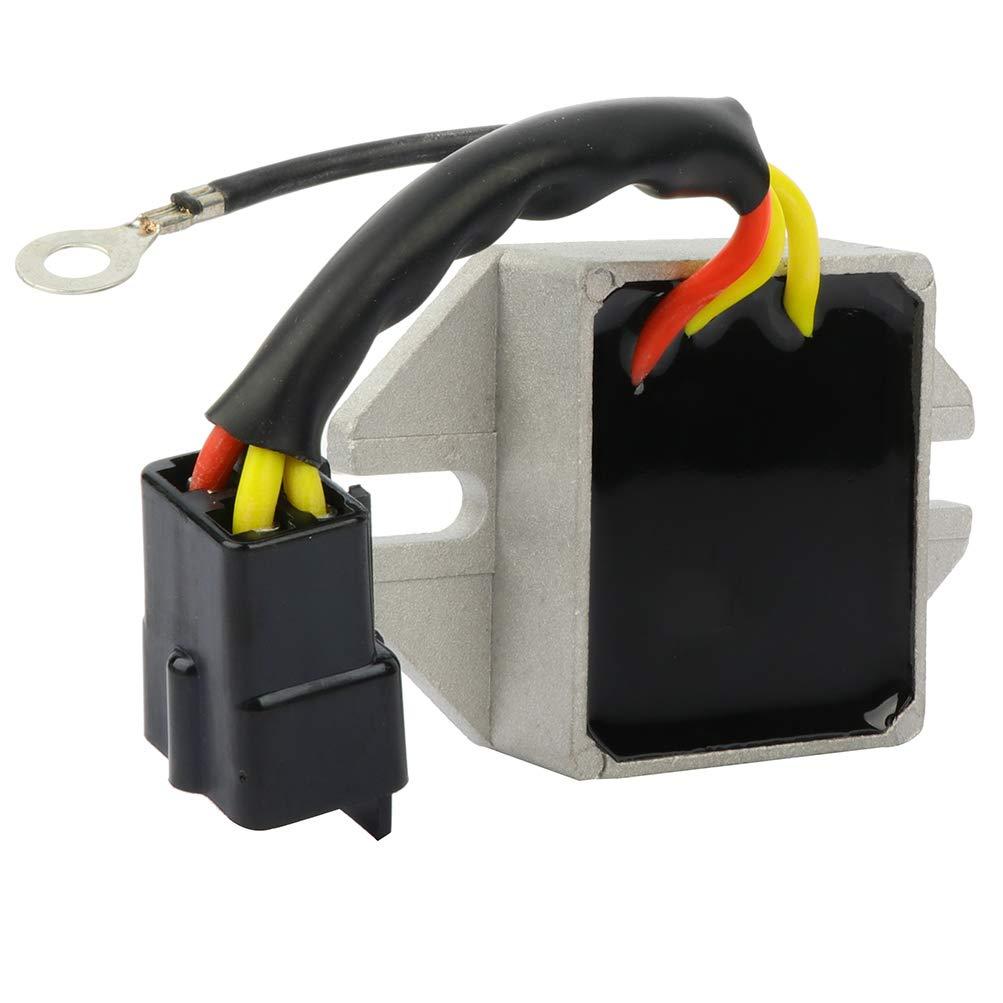 INEEDUP Voltage Regulator Rectifier for SKI-DOO SKANDIC 95-01 SAFARI GRAND LUXE LC 84-88 SAFARI 84-88 EVEREST 500 E 80-83 EVEREST 500 LC 80-83 Automotive Replacement Alternnator Voltage Regulator
