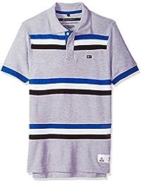 Men's Short Sleeve Stripe Polo Shirt