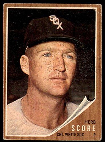 (Baseball MLB 1962 Topps #116 Herb Score VG Very Good White)