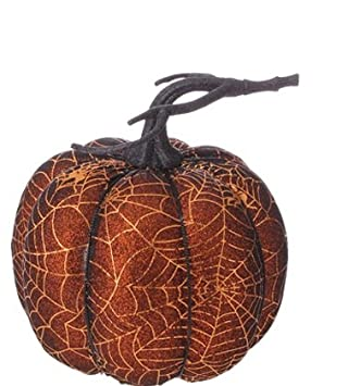raz imports halloween decoration 7 golden spider web decorated pumpkins