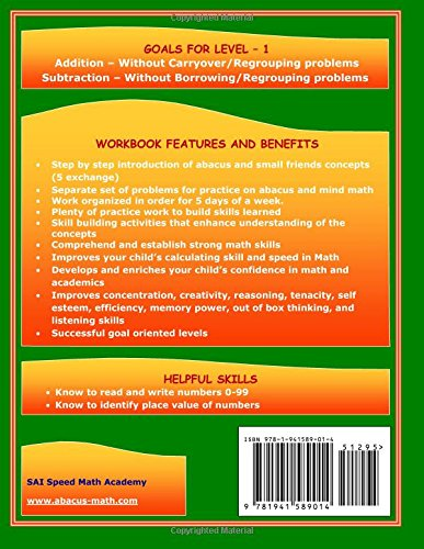 Abacus Mind Math Level 1 Workbook 1 of 2: Excel at Mind Math with ...
