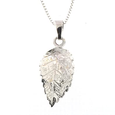 Sterling silver leaf pendant and chain amazon jewellery sterling silver leaf pendant and chain mozeypictures
