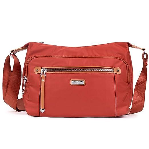 737fe9bca77b Amazon.com: Fouvor Women's Crossbody Bag Nylon Waterproof Shoulder ...